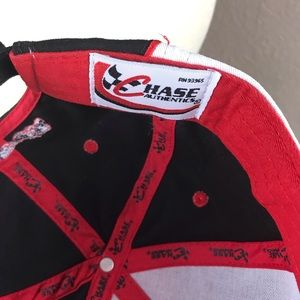 Chase Authentics Accessories - Dale Jr # 8 adjustable cap hat black & red chase